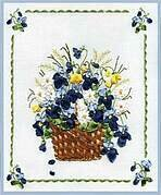 Flower Basket - Ribbon Embroidery Kit