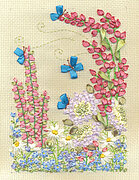 Spring Flowers - Ribbon Embroidery Kit