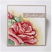 Sympathy and Friendship Rose - Clear Stamp