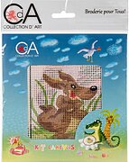 Kangaroo - Stamped Needlepoint Kit