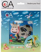 Cow - Stamped Needlepoint Kit