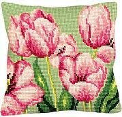 Tulipe A Droite - Stamped Needlepoint Cushion Kit