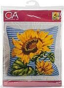 Zenith Sunflower - Stamped Needlepoint Cushion Kit