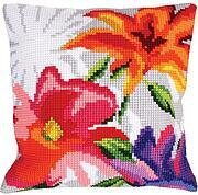 Stylish Flowers I - Stamped Needlepoint Cushion Kit