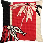 Red And Black I - Stamped Needlepoint Cushion Kit