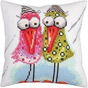 Together - Stamped Needlepoint Cushion Kit