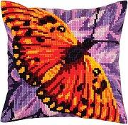 Dimensions Needlecrafts Butterfly On Zinnia 7232 Mini Needlepoint Kit