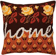 Home - Stamped Needlepoint Cushion Kit