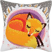 Winter Dreams (Fox) - Stamped Needlepoint Cushion Kit