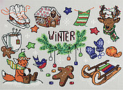 Winter in Your Pocket - Christmas Cross Stitch Kit