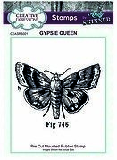 Gypsie Queen - Precut Mounted Rubber Stamp