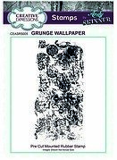 Grunge Wallpaper - Precut Mounted Rubber Stamp