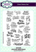Festive Greetings A5 - Sue Wilson Christmas Clear Stamp Set