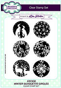 Winter Silhouette Circles - Creative Expressions Clear Stamp