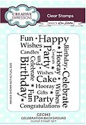 Celebration Background - Creative Expressions Clear Stamp