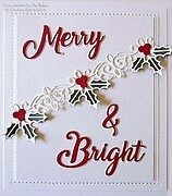 Holly and Berry Border - Christmas Craft Die