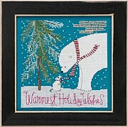 Warmest Wishes - Curly Girl - Beaded Cross Stitch Kit