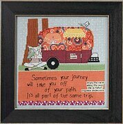 Off Your Path (Curly Girl Design) - Beaded Cross Stitch Kit
