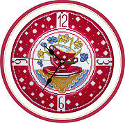 Cozy Kitchen Clock - Cross Stitch Kit
