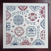 Peace and Hope Sampler - Cross Stitch Pattern