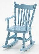 Rocking Chair - Soft Blue - Dollhouse Miniature