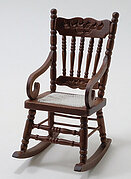 Gloucester Rocking Chair - Walnut - Dollhouse Miniature