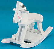 Rocking Horse - White - Dollhouse Miniature