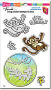 Monkey - Cling Stamp and Die Set