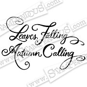 Leaves Falling - Autumn Cling Stamp