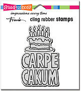 Carpe Cakum - Cling Rubber Stamp
