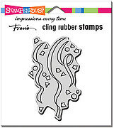 Confetti Streamers - Cling Rubber Stamp