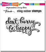 Be Happy - Cling Rubber Stamp