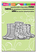 Puddle Boots - Cling Rubber Stamp
