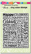 Party Background - Cling Rubber Stamp