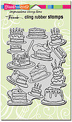 Cake Background - Cling Rubber Stamp
