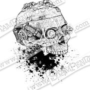 Steampunk Skull - Halloween Cling Stamp