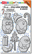 Winter Friends - Cling Rubber Stamp