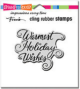Warmest Holiday - Christmas Cling Rubber Stamp