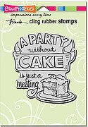 Without Cake - Cling Rubber Stamp