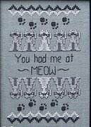 You Had Me At Meow - Cross Stitch Pattern