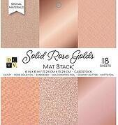 Solid Rose Golds - DCWV Cardstock Stack 6x6