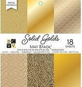 Solid Golds DCWV Cardstock Mat Stack 6x6