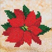 Poinsettia Christmas - Diamond Dotz Facet Art Kit