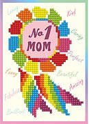 Number 1 Mom - Diamond Embroidery Greeting Card Kit