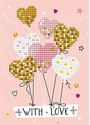 Love Balloons - Diamond Embroidery Greeting Card Kit