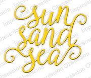 Sun Sand Sea - Impression Obsession Craft Die