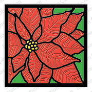 Poinsettia Frame - Impression Obsession Craft Die