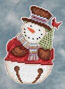 Frank Snowbells (Debbie Mumm) - Beaded Cross Stitch Kit