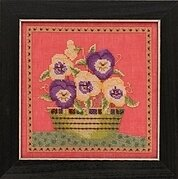 Pansies - Debbie Mumm - Beaded Cross Stitch Kit