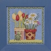 Tulips and Daisies - Debbie Mumm - Beaded Cross Stitch Kit